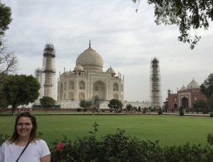 Carrie at Taj Mahal